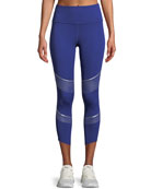 Breathelux Metallic Cropped Performance Leggings