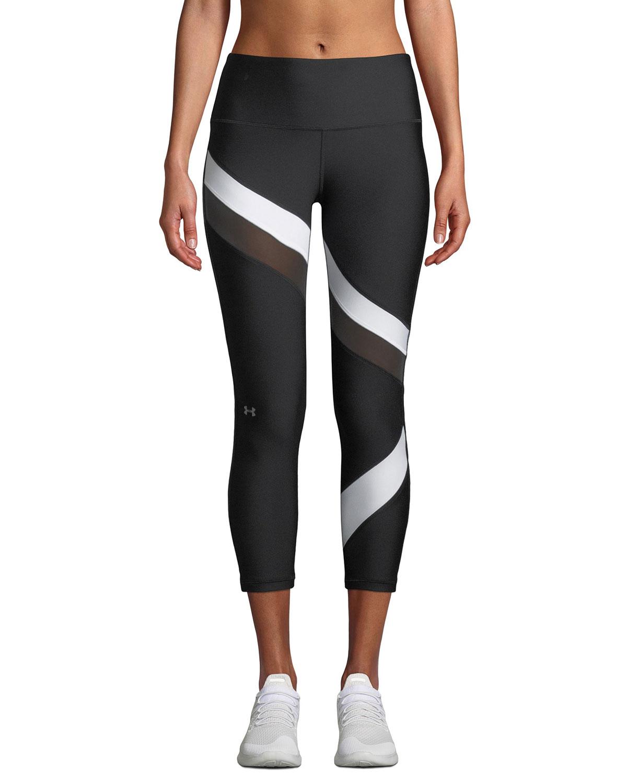 HeatGear® Striped Cropped Performance Leggings