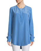 Equipment Windsor Striped Silk Blouse