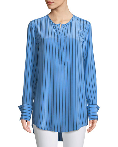 Windsor Striped Silk Blouse