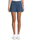 3x1 Amy Button Denim Shorts