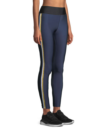 Ultra-High Lux Collegiate Leggings with Side Stripes