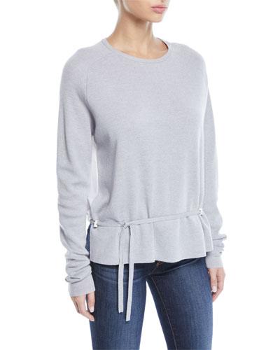 7631d65363 Quick Look. Tibi · Merino Wool Poplin-Back Pullover Sweater