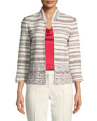 St. John Collection Degrade Flag Tweed Knit Jacket