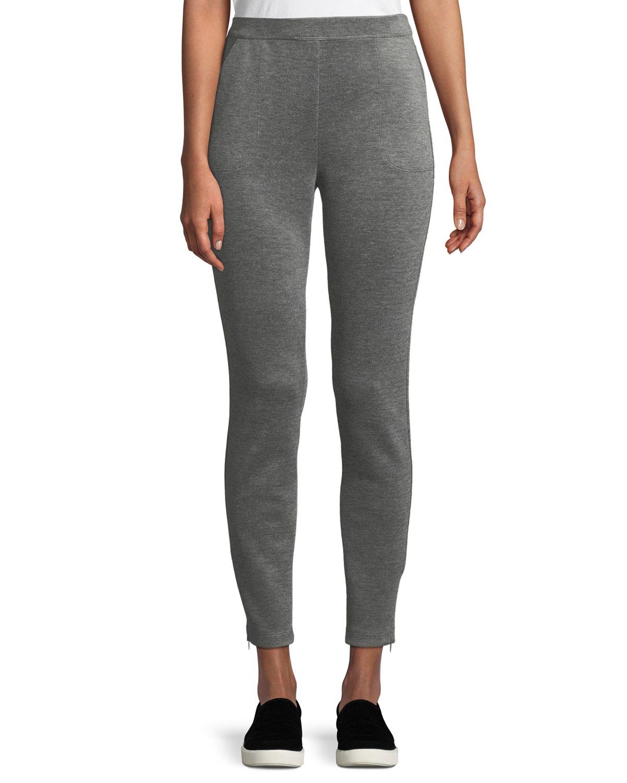 Birdseye Double-Knit Cropped Pants