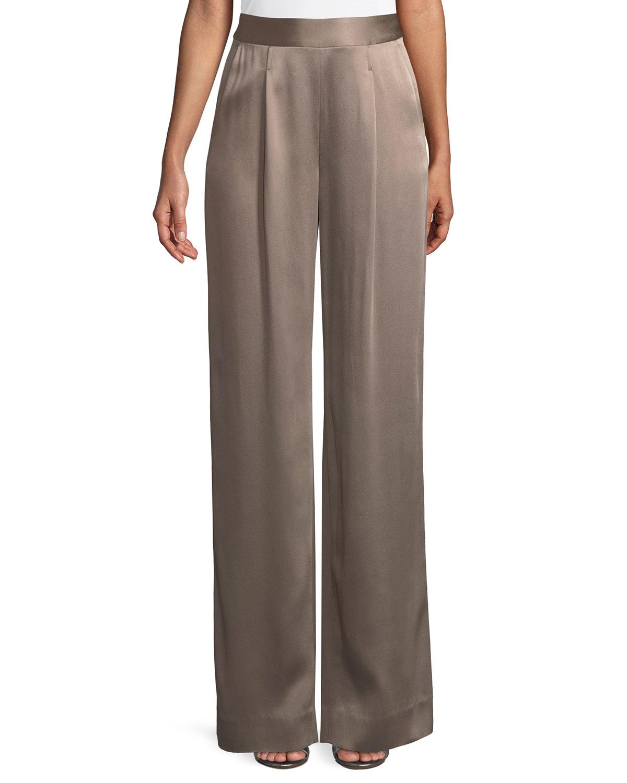 Liquid Crepe Pants w/ Pleats