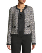 St. John Collection Inlaid Eyelash Tweed Jacket