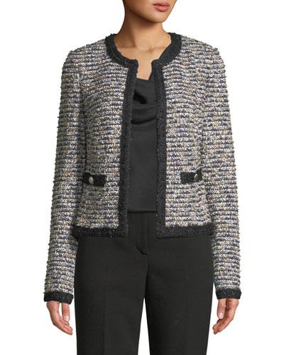 Inlaid Eyelash Tweed Jacket