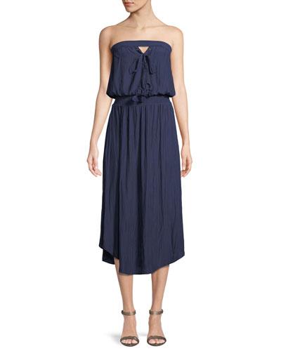 Stephanie Strapless Midi Dress