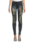 Gothic Embroidered Skinny Jeans