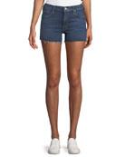 Charmer Frayed Denim Shorts