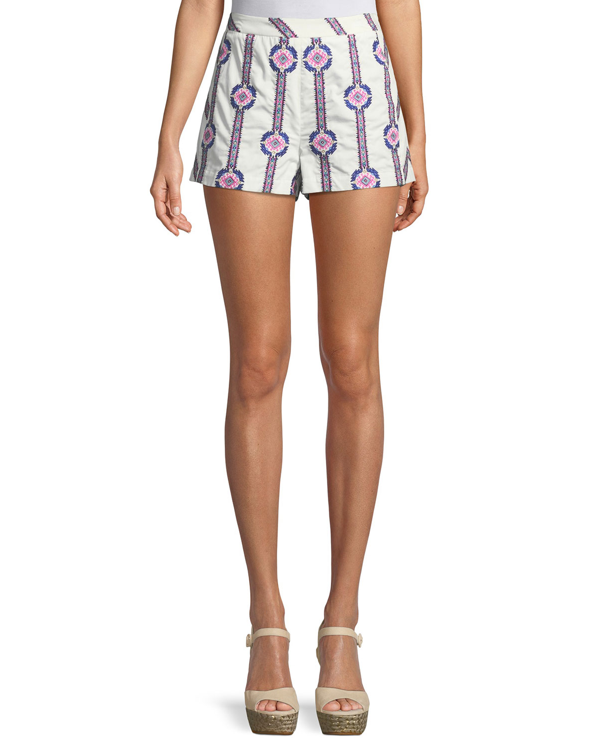 Jayde Printed Cotton Shorts
