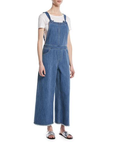 9e2d64bf3d26 Blue Cotton Jumpsuit