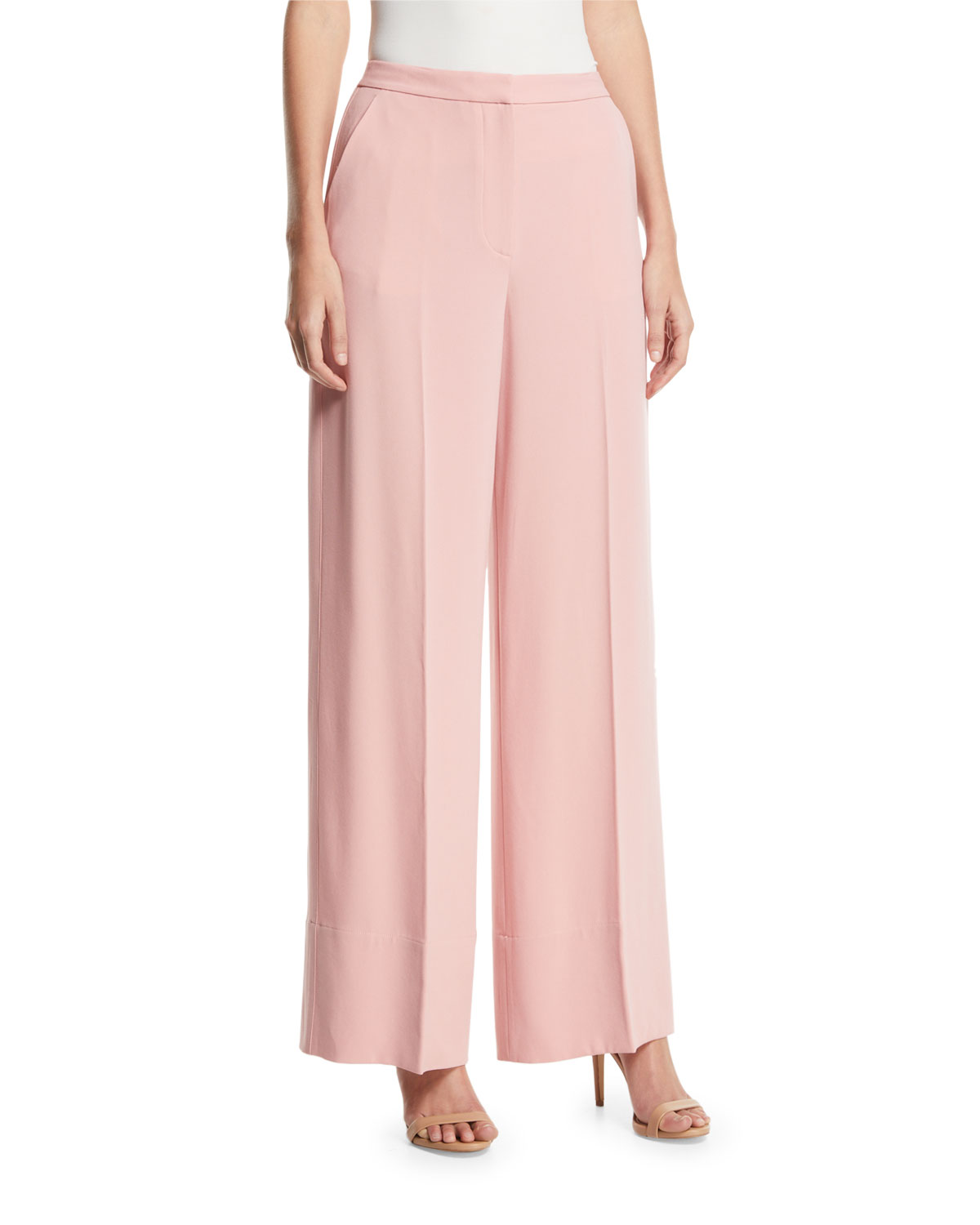 Harmon Simple Wide-Leg Pants