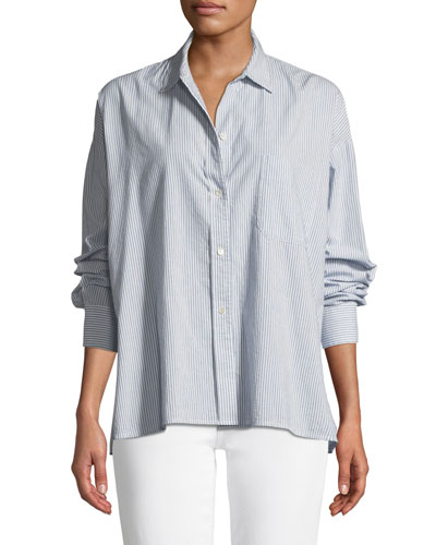 7cd053c9 Quick Look. Vince · Striped Boxy Button-Down Top