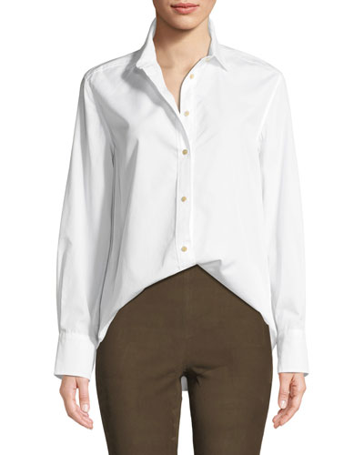 Classic Long-Sleeve Button-Down Shirt