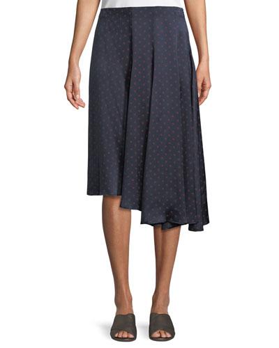 dd697cde13 Quick Look. Vince · Dot-Print Foulard Asymmetric Pleated Silk Skirt
