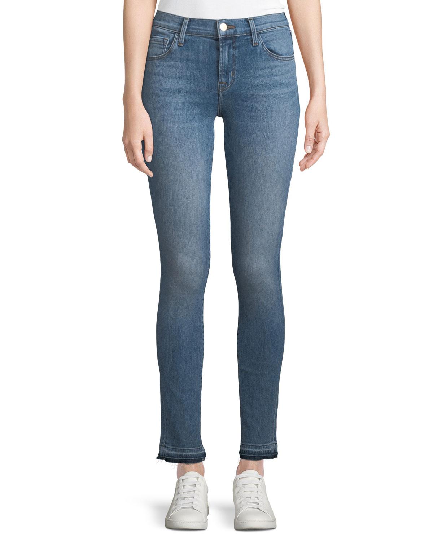 811 Mid-Rise Skinny-Leg Jeans with Released Hem, Delphi