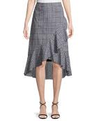 Nikita Picnic Plaid Wrap Ruffle Skirt