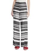 Netti Parasol Striped Wide-Leg Pants