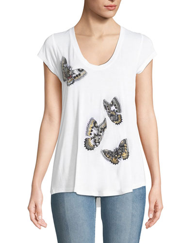 Tiny Cannet Butterfly Graphic Short-Sleeve Tee