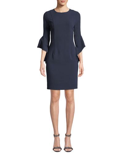 Lorie Bell-Sleeve Mini Dress