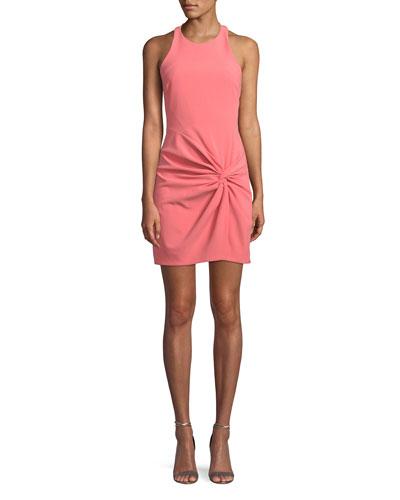 Knot-Front Halter Mini Dress