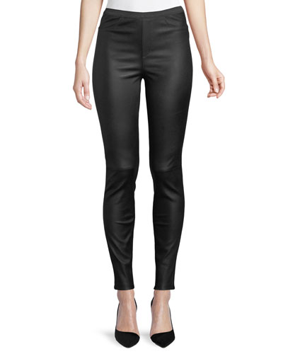 1bfe6957a3464 Quick Look. Neiman Marcus Leather Collection · Ponte-Back Leather Leggings