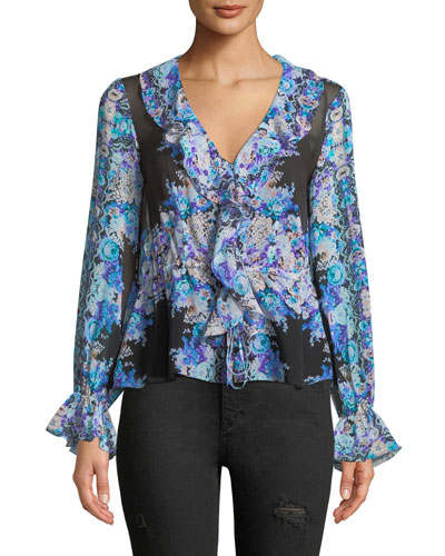 Sundance Silk Cinched Top