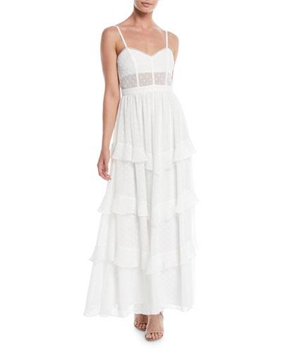 The Nancy Ruffle Tiered Maxi Dress