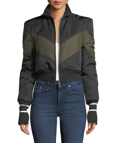 Conquer Your Fears Cropped Puffer Jacket