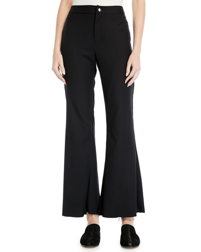 3ca7801d23 Black Fitted Flare Pants | Neiman Marcus
