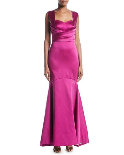 Sleeveless Mermaid Gown in Satin