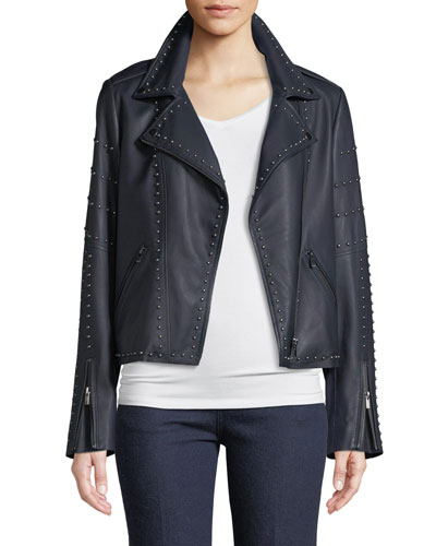 Leather Jacket w/ Studs