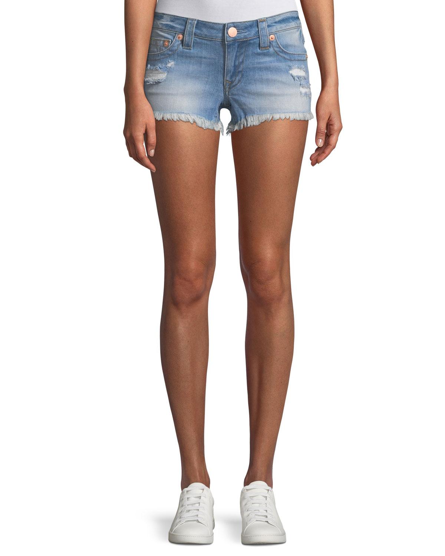 Joey Distressed Cutoff Denim Shorts