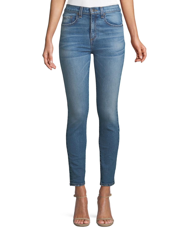 Faye High-Waist Skinny Ankle Jeans