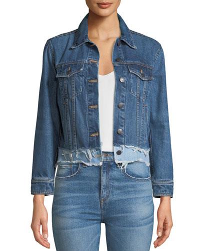 Marianne Frayed Denim Jacket