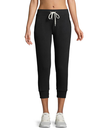 Cropped Drawstring Jogger Pants