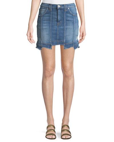 d50afa66d5 Quick Look. Hudson · Weekender Step-Hem Denim Skirt