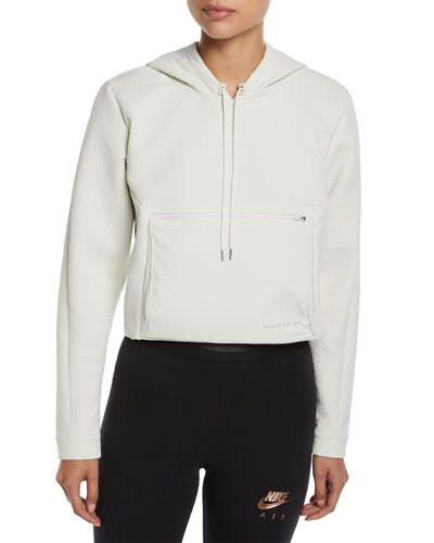 Packable Tech Cropped Pullover Hoodie