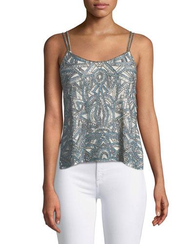 Soleil Embellished Side-Button Cami Top