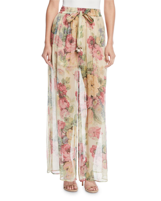 Melody Floral Wide-Leg Pants