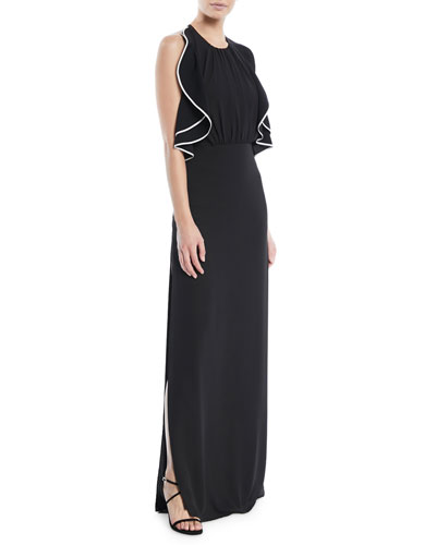 84143f2473 Quick Look. Halston Heritage · Open-Back Gown ...