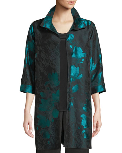 Plus Size Midnight Garden Jacquard Topper Jacket