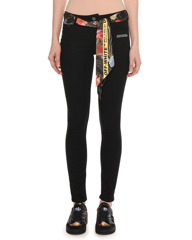Five-Pocket Skinny-Leg Jeans