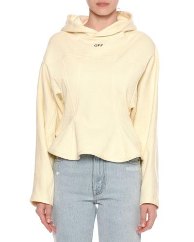 Peplum-Front Hooded Sweatshirt