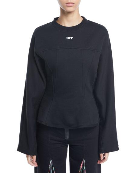 Off-White Crewneck Long-Sleeve Corset Sweatshirt
