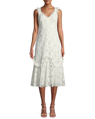 86574b1f854 Quick Look. Rebecca Taylor · Adriana Eyelet Lace-Up Midi Dress