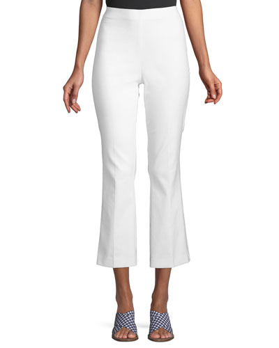 Hina High-Waist Straight-Leg Cropped Pants