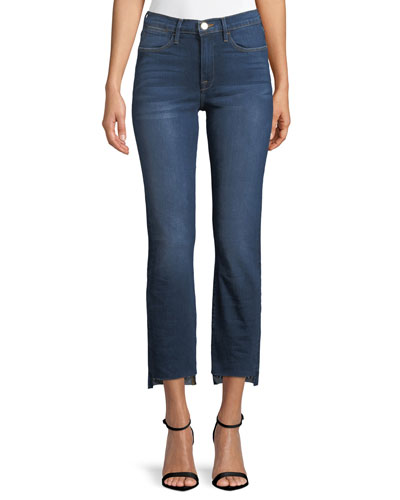 Le High Straight-Leg Released Step-Hem Cropped Jeans